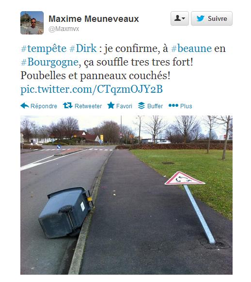 alerte météo Besançon dirk